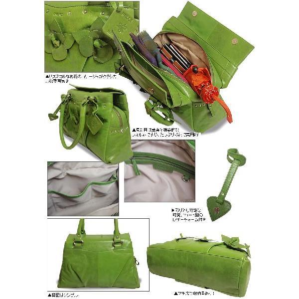 クラシカル ショルダーバッグ レディース レディス フラワーコサージュ 本革レザー イタリア carraro フランカ bag