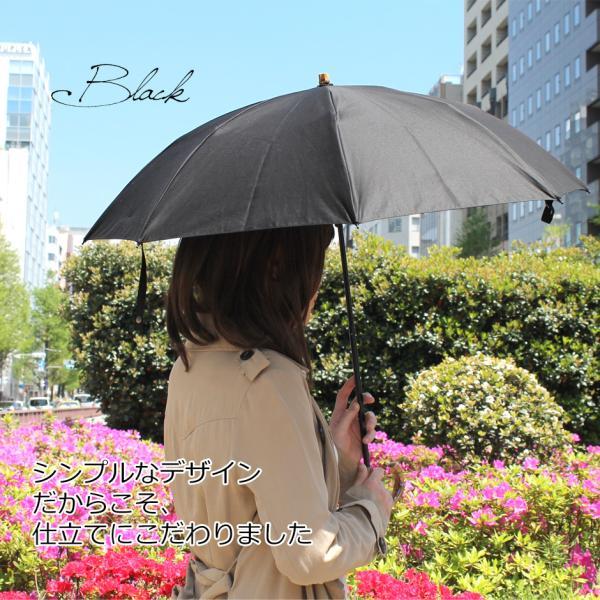 晴雨兼用折りたたみ傘 8本骨 丈夫 日傘 レディース レディス 軽量 日本製 おしゃれ 雨傘 UV コットンピケ スライドショート バンブーハンドル タッセル|carron|02