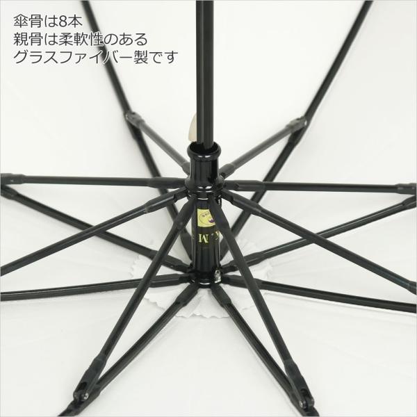 晴雨兼用折りたたみ傘 8本骨 丈夫 日傘 レディース レディス 軽量 日本製 おしゃれ 雨傘 UV コットンピケ スライドショート バンブーハンドル タッセル|carron|13