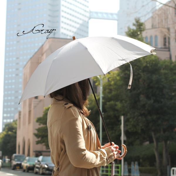 晴雨兼用折りたたみ傘 8本骨 丈夫 日傘 レディース レディス 軽量 日本製 おしゃれ 雨傘 UV コットンピケ スライドショート バンブーハンドル タッセル|carron|05