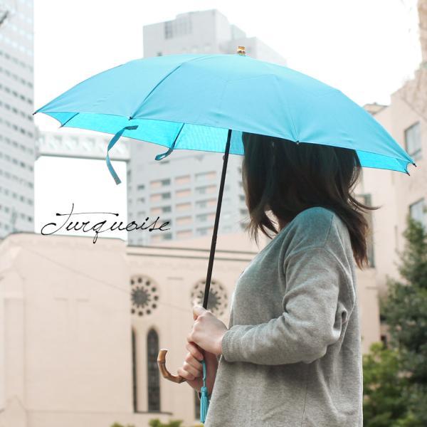 晴雨兼用折りたたみ傘 8本骨 丈夫 日傘 レディース レディス 軽量 日本製 おしゃれ 雨傘 UV コットンピケ スライドショート バンブーハンドル タッセル|carron|06