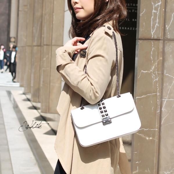チェーンバッグ 本革 ブランド ショルダーバッグ レディース レディス レザー 小さい エンベロープ スタッズ イタリア PULICATI イサベル brand bag carron 05