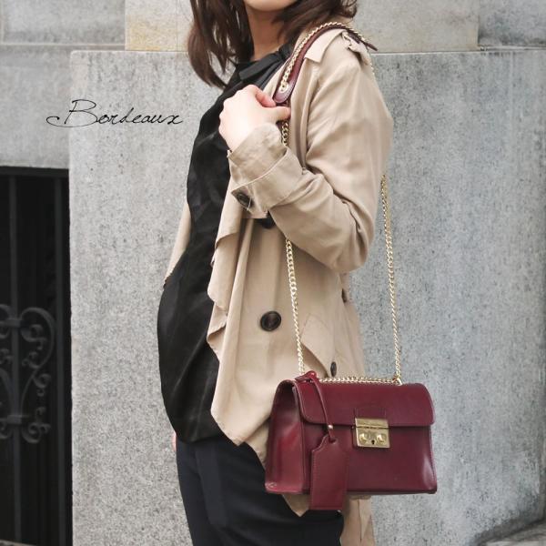 ミニショルダーバッグ レディース レディス チェーンバッグ おしゃれ 本革レザー イタリアブランド brand CHRISTIAN VILLA ジゼル bag|carron|02