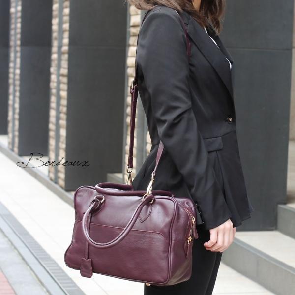 ボストンバッグ レディース 通勤 ショルダーバッグ 2WAY ソフトレザー 本革 イタリアブランド brand POPCORN エメリーヌ レディス bag|carron|03