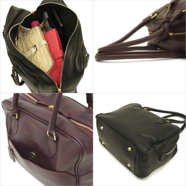 ボストンバッグ レディース 通勤 ショルダーバッグ 2WAY ソフトレザー 本革 イタリアブランド brand POPCORN エメリーヌ レディス bag|carron|06