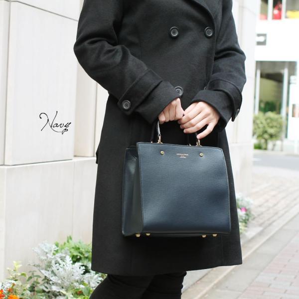 スクエアトートバッグ レディース 小さめ ハンドバッグ 本革レザー 2WAY ミニショルダーバッグ イタリアブランド CHRISTIAN VILLA brand レディス bag|carron|02