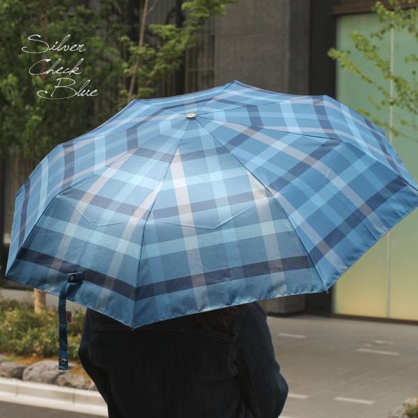 折りたたみ傘 自動開閉 おしゃれ チェック 折り畳み ワンタッチ傘 丈夫 ビジネス レディース レディス メンズ Men's 折りたたみ雨傘 イタリア rainbow|carron|06