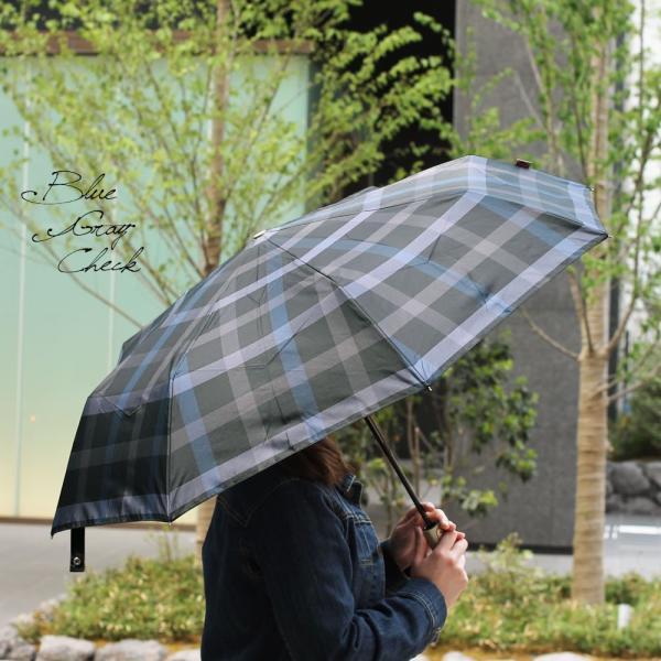 折りたたみ傘 自動開閉 おしゃれ チェック 折り畳み ワンタッチ傘 丈夫 ビジネス レディース レディス メンズ Men's 折りたたみ雨傘 イタリア rainbow|carron|07