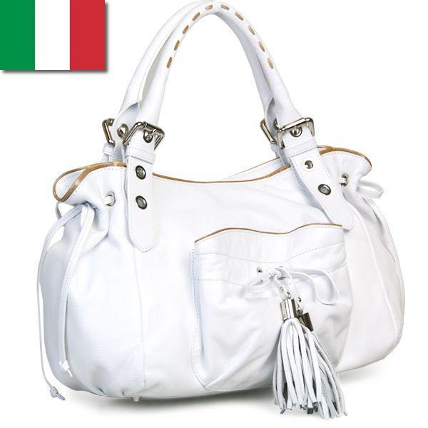ショルダーバッグ レディース レディス パイピング フリンジリボン 本革レザー ボストンバッグ イタリア ROBERTA GANDOLFI エルダ bag|carron