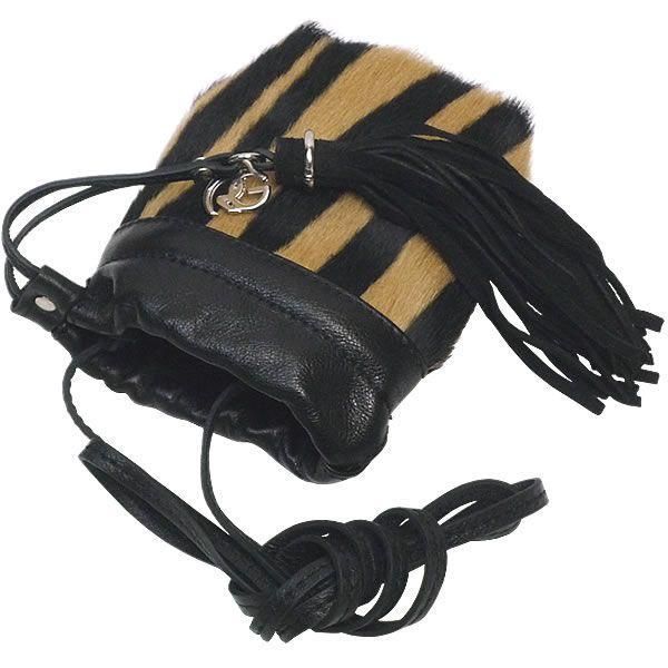 ミニポーチ 携帯ケース レディース レディス ポシェットバッグ 本革レザー ハラコ ゼブラ レオパード柄 フリンジ イタリア ROBERTA GANDOLFI ファビオ bag carron