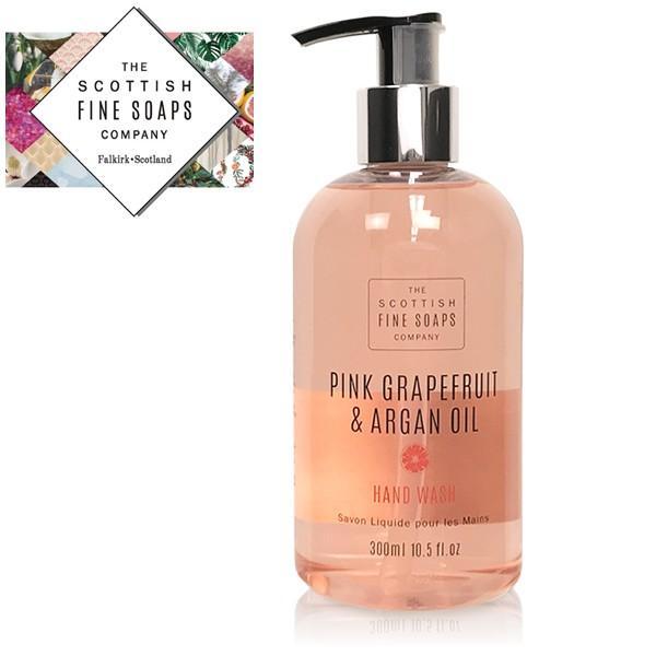 ハンドソープ ボトル おしゃれ ピンクグレープフルーツ アルガンオイル ハンドウォッシュ 液体石鹸 英国ブランド SCOTTISH FINE SOAPS brand|carron
