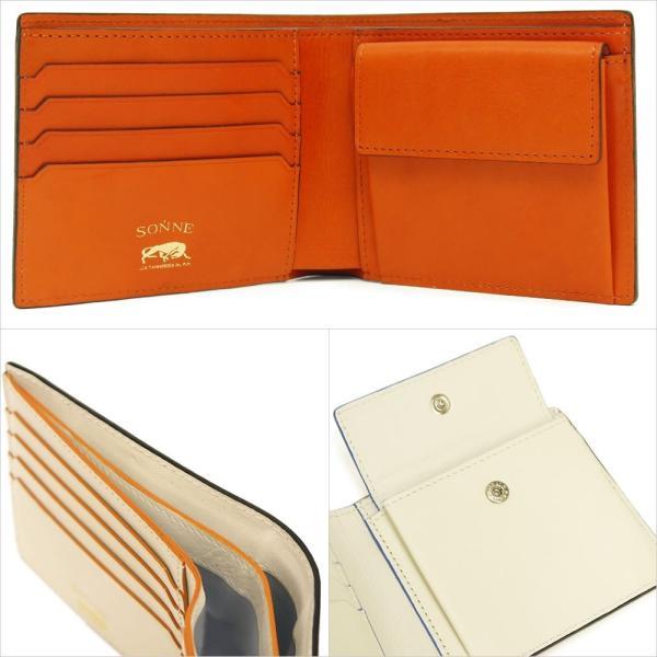 二つ折り財布 メンズ Men's 革財布 レディース レディス チェルケスレザー SONNE 全4色|carron|04