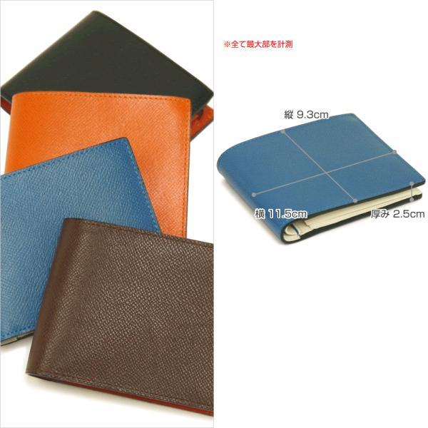 二つ折り財布 メンズ Men's 革財布 レディース レディス チェルケスレザー SONNE 全4色|carron|05