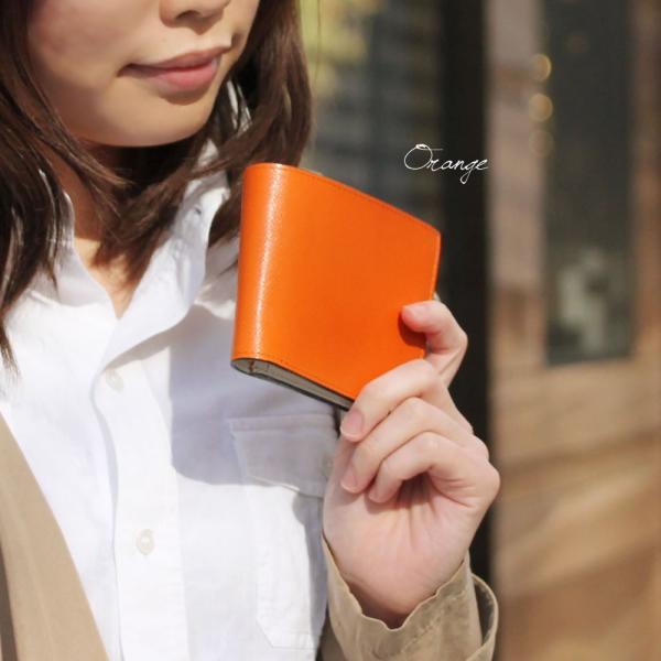 二つ折り財布 メンズ Men's 革財布 レディース レディス チェルケスレザー SONNE 全4色|carron|06