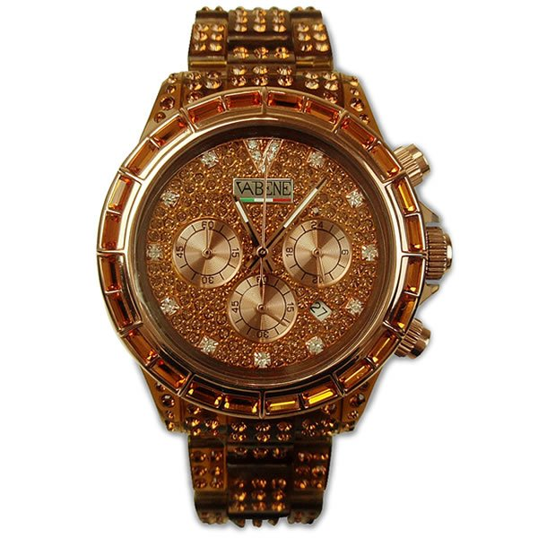 ヴァベーネ 腕時計 VABENE ラインストーンフェイス クロノグラフ おしゃれ ファッションウォッチ メンズ Men's レディース レディス|carron