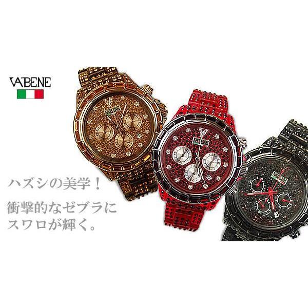 ヴァベーネ 腕時計 VABENE ラインストーンフェイス クロノグラフ おしゃれ ファッションウォッチ メンズ Men's レディース レディス|carron|02