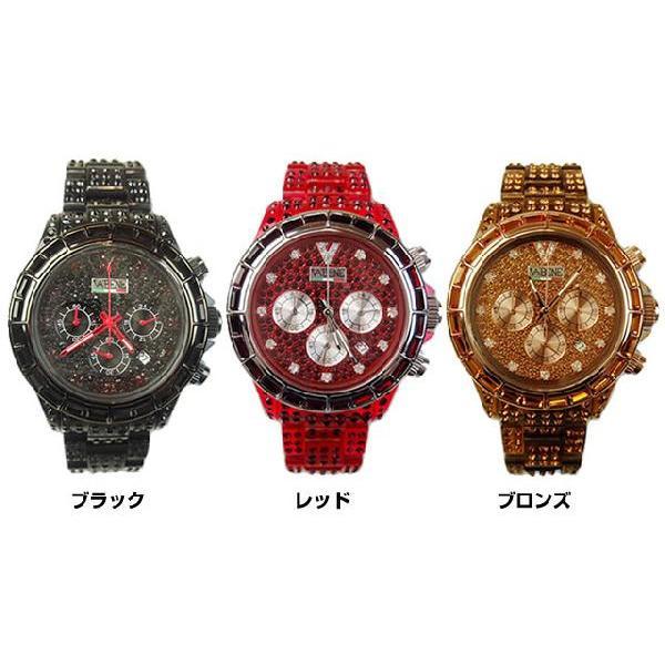 ヴァベーネ 腕時計 VABENE ラインストーンフェイス クロノグラフ おしゃれ ファッションウォッチ メンズ Men's レディース レディス|carron|04