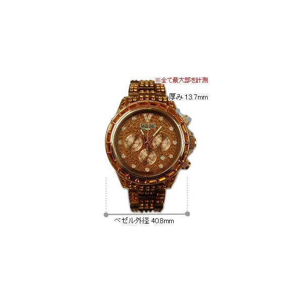 ヴァベーネ 腕時計 VABENE ラインストーンフェイス クロノグラフ おしゃれ ファッションウォッチ メンズ Men's レディース レディス|carron|05