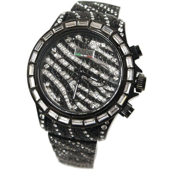 ヴァベーネ 腕時計 VABENE ゼブラフェイス スワロフスキー クロノグラフ おしゃれ ファッションウォッチ メンズ Men's レディース レディス carron