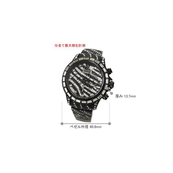 ヴァベーネ 腕時計 VABENE ゼブラフェイス スワロフスキー クロノグラフ おしゃれ ファッションウォッチ メンズ Men's レディース レディス carron 05