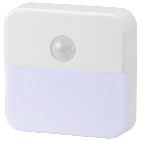 オーム電機 明暗・人感センサー式ナイトライト NIT-ALA6JB-WN 06-0469
