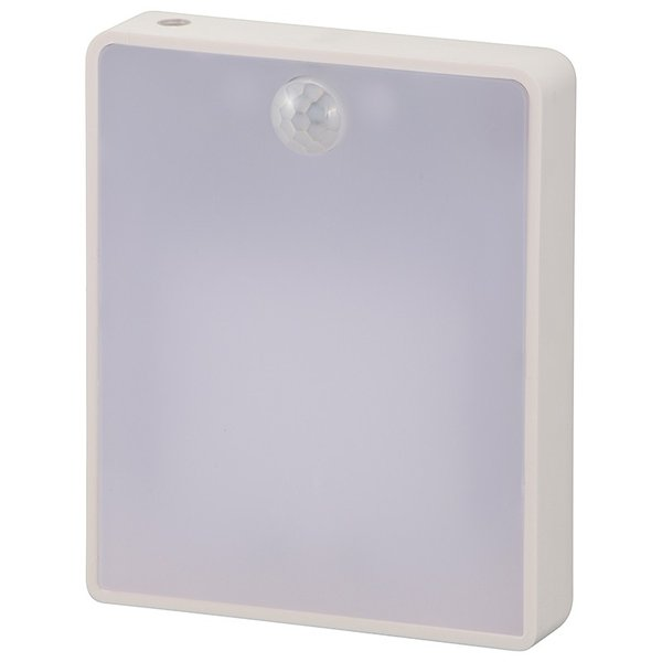 オーム電機 明暗・人感センサー式ナイトライト 薄型 NIT-AE1W12-W 06-4112