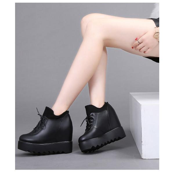 ショートブーツ ファッション 靴 ショートブーツ 厚底 秋 冬 裏起毛 防水 紐 インヒール リラックスした足元を作る 履き心地快適 ハイヒール