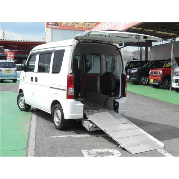 エブリイワゴン 660ウィズ車いす移動車 後席付 電動固定式 補助席&車椅子乗員用手摺付|carsensor