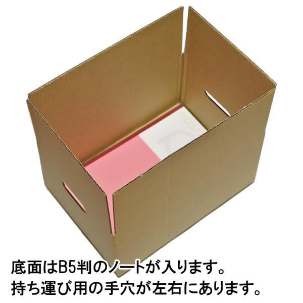 段ボール ダンボール 60サイズ B5対応 30枚セット 梱包用ダンボール 手穴あり 茶色 送料無料 外寸270x190x130mm 厚さ3mm 日本製 003-005|carton-box|03