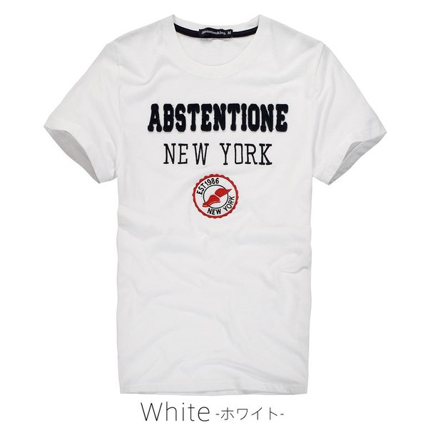 Tシャツ メンズ 半袖 アメカジ ロゴ ワッペン  ホワイト|carvus|02