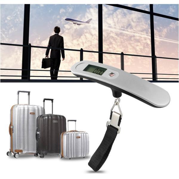 ラゲッジチェッカー スケール スーツケース 荷物 旅行 計り 計量器 携帯式 デジタル 最大50kg シルバー ピンク ゴールドゆうメール送料無料 T100 carvus 02