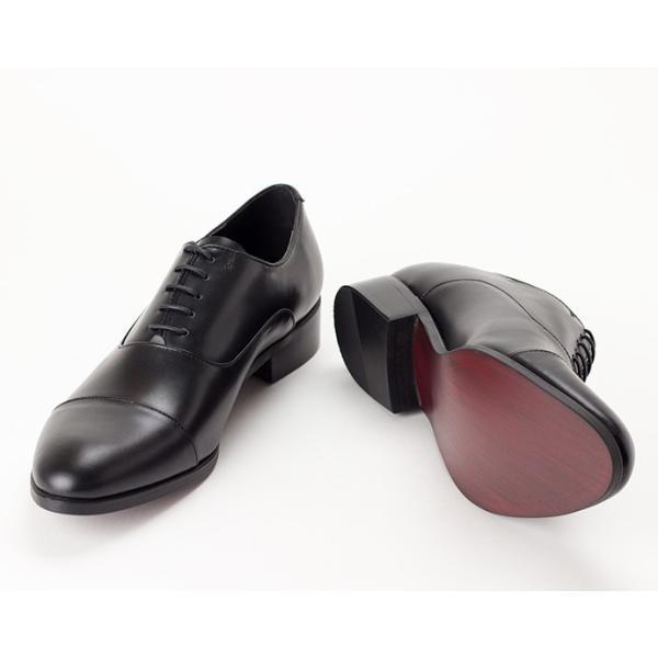 ビジネスシューズ ビジネス 革靴 メンズ 本革 黒 ストレートチップ 内羽根 結婚式 フォーマル 日本製 Fiore フィオーレ|casadepaz|02
