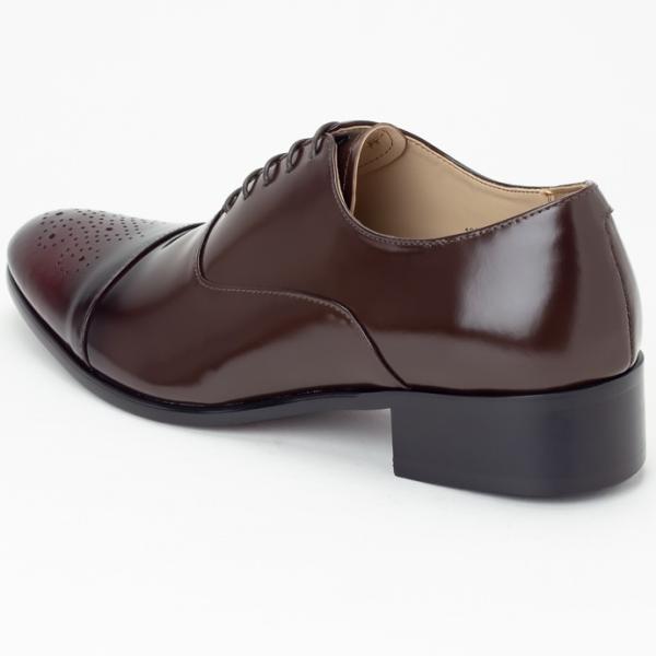 ビジネスシューズ ビジネス 革靴 メンズ 本革 黒 茶 メダリオン ストレートチップ 内羽根 結婚式 フォーマル 日本製 Vecchio ベッキオ|casadepaz|11