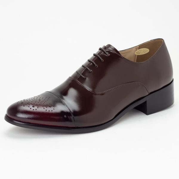 ビジネスシューズ ビジネス 革靴 メンズ 本革 黒 茶 メダリオン ストレートチップ 内羽根 結婚式 フォーマル 日本製 Vecchio ベッキオ|casadepaz|09