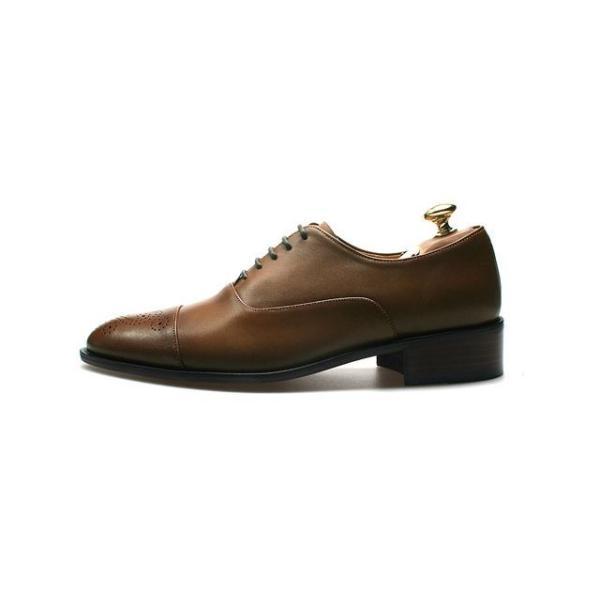 メダリオン 本革 メンズ ビジネスシューズ 革靴 紳士靴 ハンドメイド|casadepaz|05