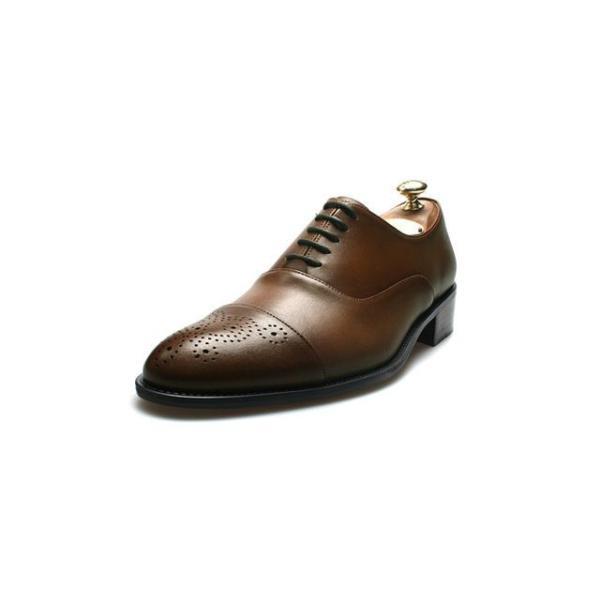 メダリオン 本革 メンズ ビジネスシューズ 革靴 紳士靴 ハンドメイド|casadepaz|06