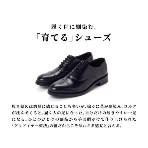 ビジネスシューズ 本革 メンズ グッドイヤー ストレートチップ プレーントゥ 革靴  Circred|casadepaz|02