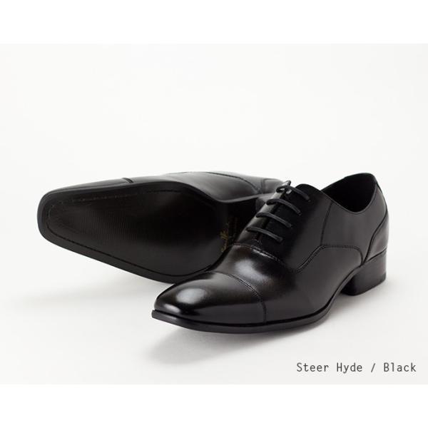 ビジネスシューズ ストレートチップ 内羽根 幅広 本革 ロングノーズ 黒 茶 革靴 紳士靴 日本製 結婚式 メンズ サラバンド sa7770|casadepaz|12