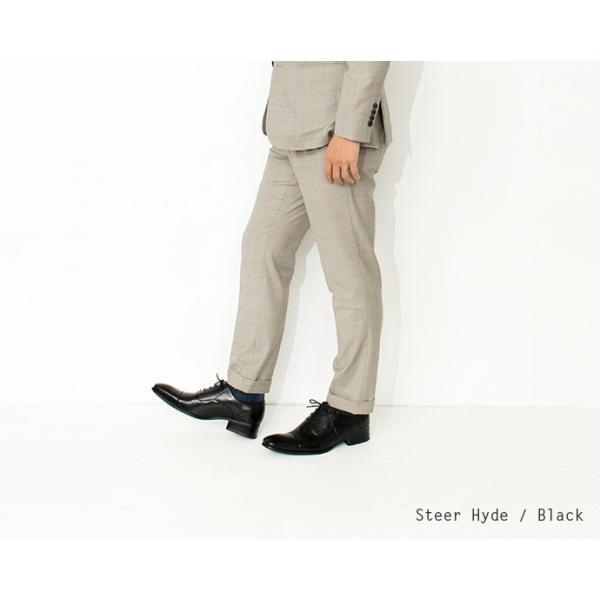 ビジネスシューズ ストレートチップ 内羽根 幅広 本革 ロングノーズ 黒 茶 革靴 紳士靴 日本製 結婚式 メンズ サラバンド sa7770|casadepaz|08
