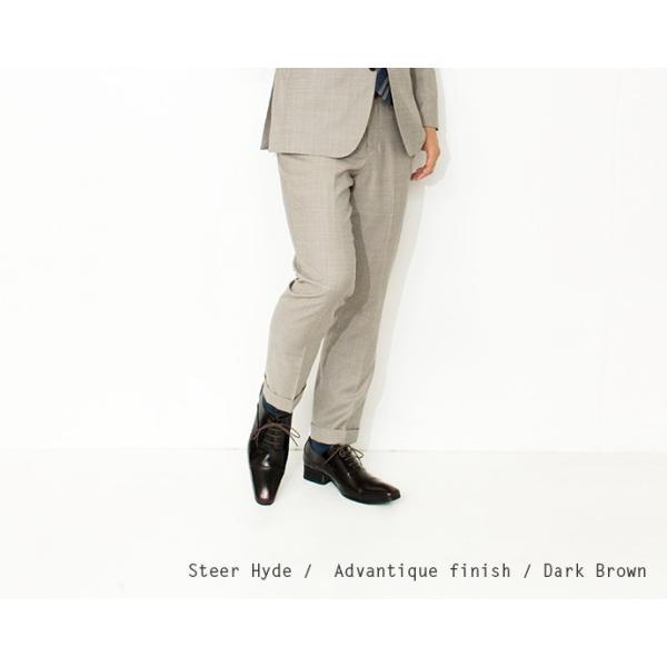ビジネスシューズ ストレートチップ 内羽根 幅広 本革 ロングノーズ 黒 茶 革靴 紳士靴 日本製 結婚式 メンズ サラバンド sa7770|casadepaz|09