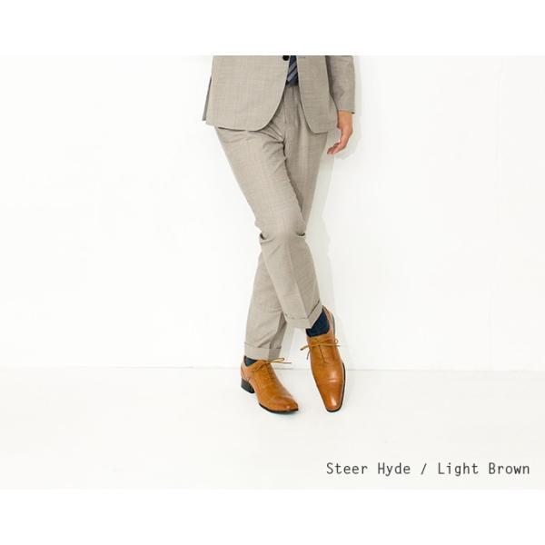 ビジネスシューズ ストレートチップ 内羽根 幅広 本革 ロングノーズ 黒 茶 革靴 紳士靴 日本製 結婚式 メンズ サラバンド sa7770|casadepaz|10