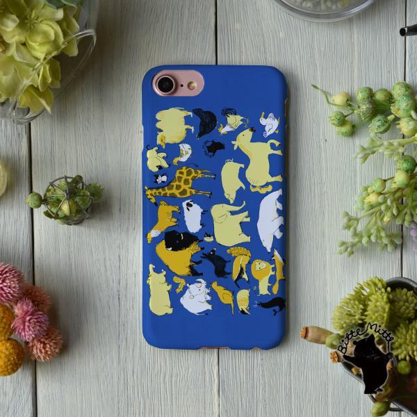 iPhone8 iphoneXR iPhoneXs iPhone6s iPhone7 ケース おしゃれ 耐衝撃 女性 女子 レディース ハード アニマル 動物園の集会/Bitte Mitte!|casegarden