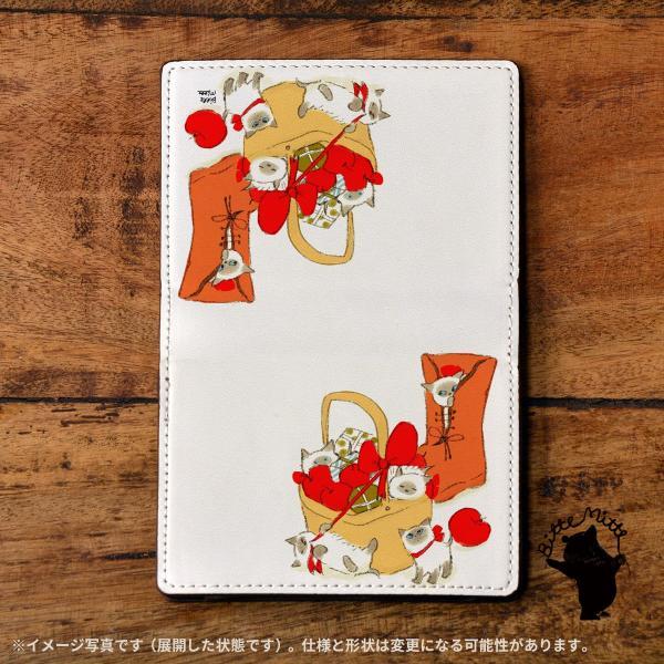 名刺入れ レディース おしゃれ 革 レザー 二つ折り 猫 ねこ 名刺ケース c612|casegarden|02