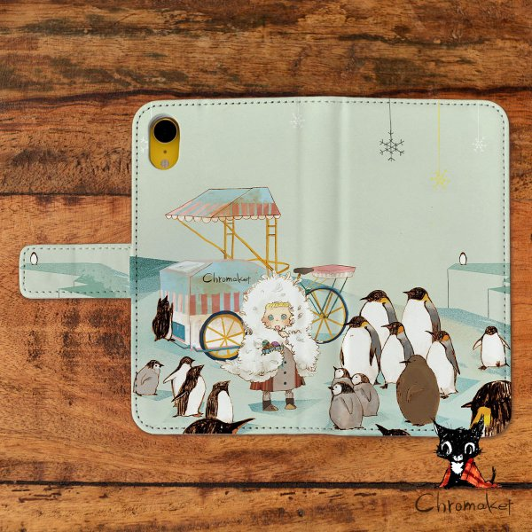 8732a12ee1 スマホケース 手帳型 全機種対応 おしゃれ 女性 アンドロイド iPhoneX iPhone8 iPhoneXR iPhone7 ペンギン 動物 冬  ...