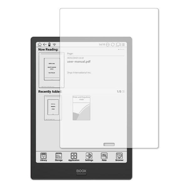 Boox Note Plus 用専用 強化ガラス と 同等の 高硬度9H ブルーライトカット 反射防止 液晶保護フィルム|casemania55