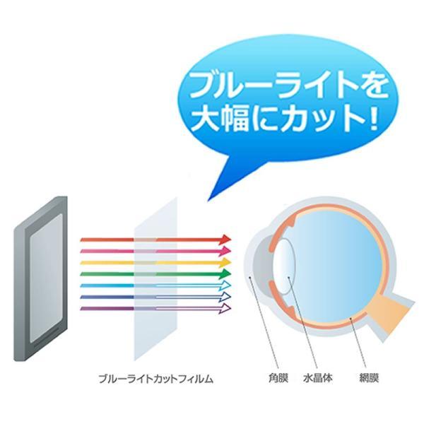 オリオン NHC-321B 強化ガラス と 同等の 高硬度9H ブルーライトカット 反射防止 液晶TV 保護フィルム