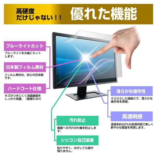 レボリューション ZM-01J1901DTV 強化ガラス と 同等の 高硬度9H ブルーライトカット 反射防止 液晶TV 保護フィルム