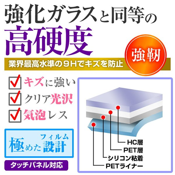 BOOX Nova 用専用 強化ガラス と 同等の 高硬度9H 液晶保護フィルム|casemania55|02