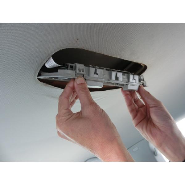 フォルクスワーゲンゴルフ6 天井はがれ修理に新提案パーツ ルーフライニングリペアトリム 前後SET(マットブラック)|casport|08