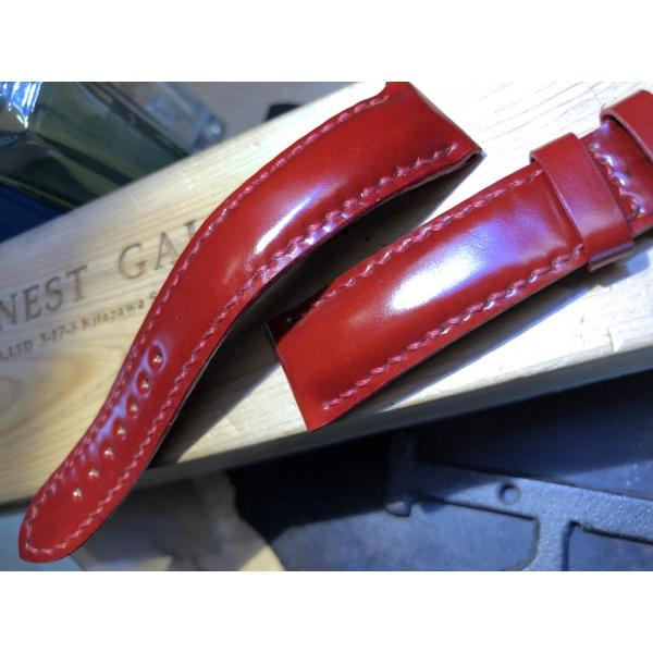 EARNEST 18.20.22mmハンドメイド/コードヴァン10色、グラマラスシェイプ/Dバックル付き、選べる厚み |cast|04